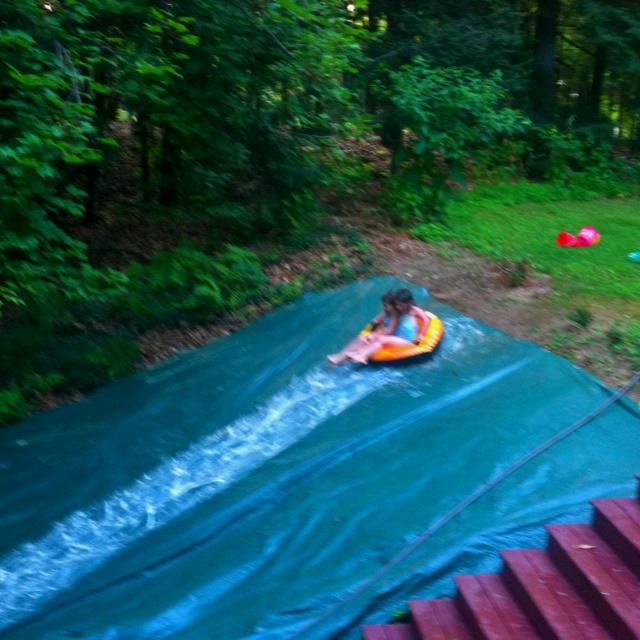 how to make a plastic slide slippery