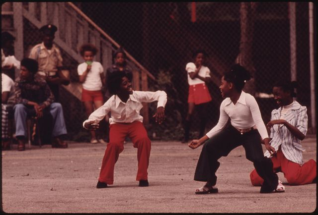 Black Youngsters Performing On An Empty Lot At 5440 South Princeton Avenue On Chicagos South Side, 08/1973