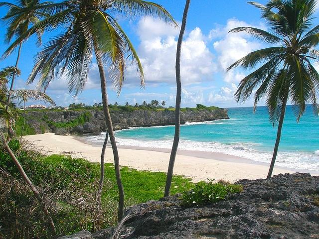 Bottom Bay beach on the south-east coast of Barbados!