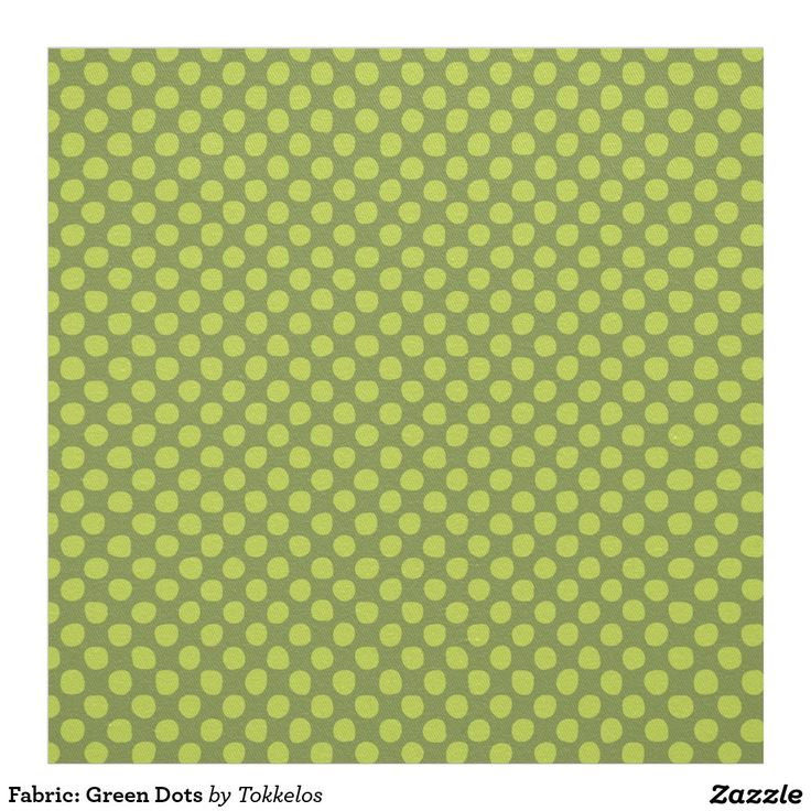 Fabric: Green Dots
