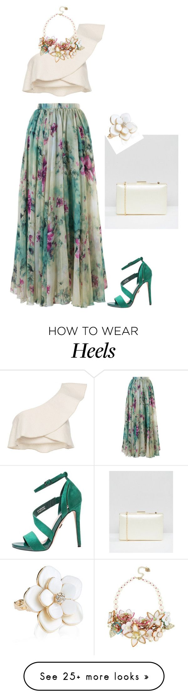 """""""floral skirt"""" by natalyag on Polyvore featuring Chicwish, Isabel Marant, Betsey Johnson, ASOS and Accessorize"""