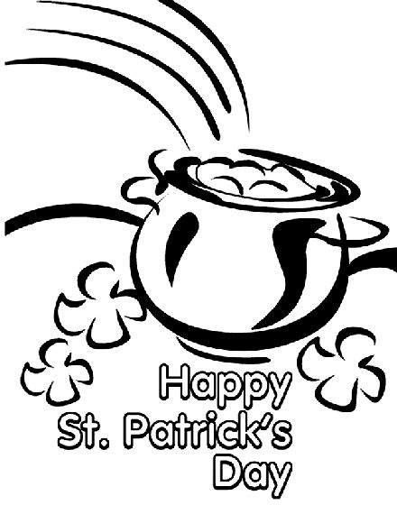 Wish everyone a happy St, Patrick's Day with this coloring ...