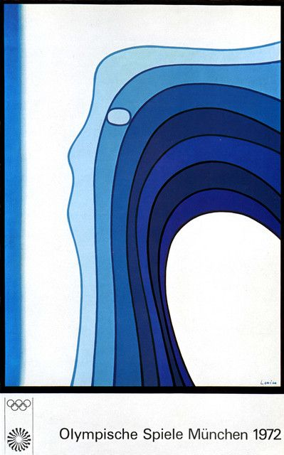 Jan Lenica poster for the 1972 Olympic Games in Munich, designed 1970.