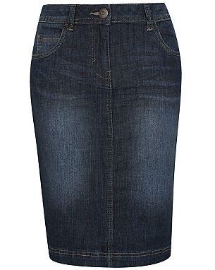 Knee length denim skirt £12