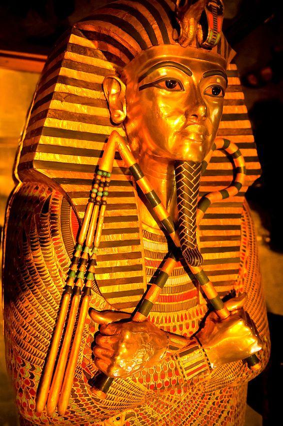 King Tut Sarcophagus, Egyptian Museum, Cairo, Egypt