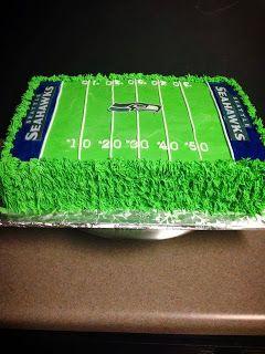 incrediBundts & More: Seahawk football field cake. Red velvet cake  Seahawks football field cake ... For Zach's b-day! :)
