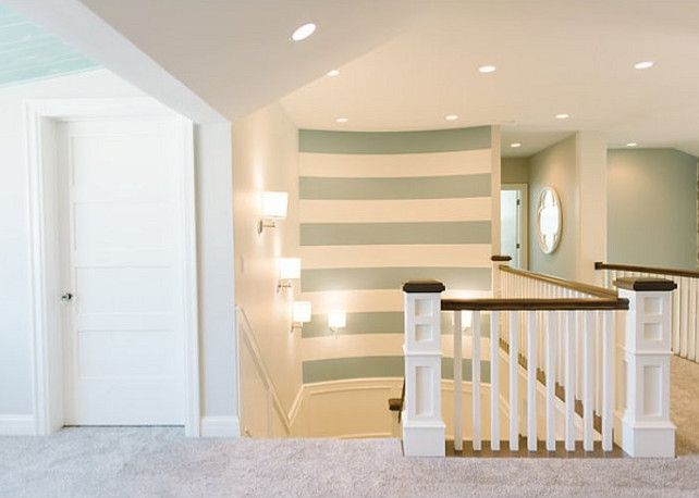 Stripe painted accent wall.