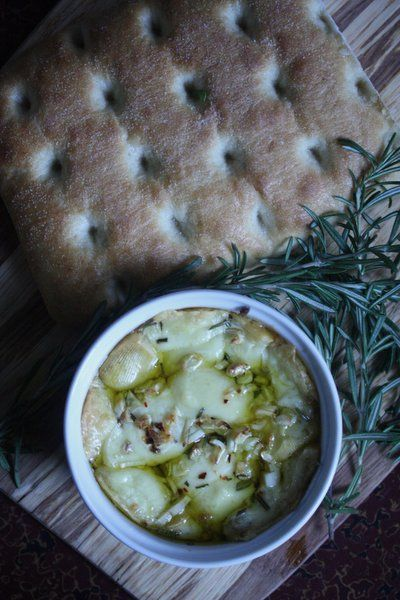 Feeding Friends: Baked Fontina with Rosemary, Garlic and Chile Flakes