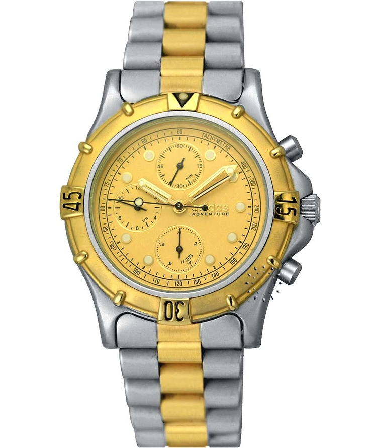 ADIDAS Adventure Chrono Two Tone Stainless Steel Bracelet Τιμή: 445€ Τιμή Προσφοράς: 89€ http://www.oroloi.gr/product_info.php?products_id=33818