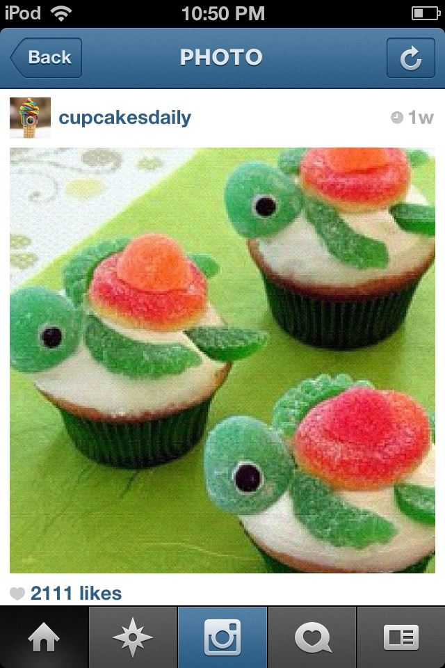 Really cute turtle cupcakes i wanna make