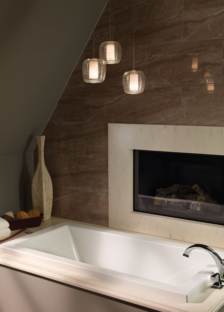 202 best bathroom lighting images on pinterest bathroom for Bathroom pendant lighting fixtures