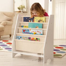 Love this bookcase for children to easily access books.  Great for childminders!