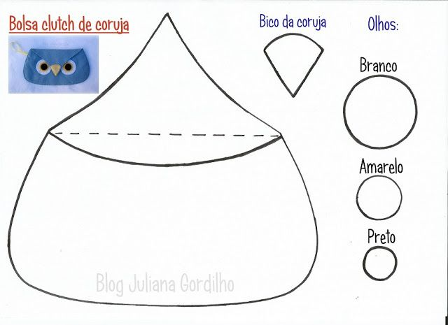 Blog Juliana Gordilho: Molde - Clutch de coruja em feltro