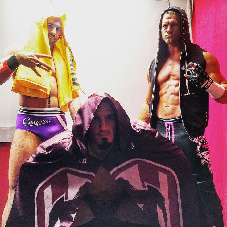 #Neville, @wwecesaro, and @heelziggler team up for the #HIAC Kickoff! #WWE