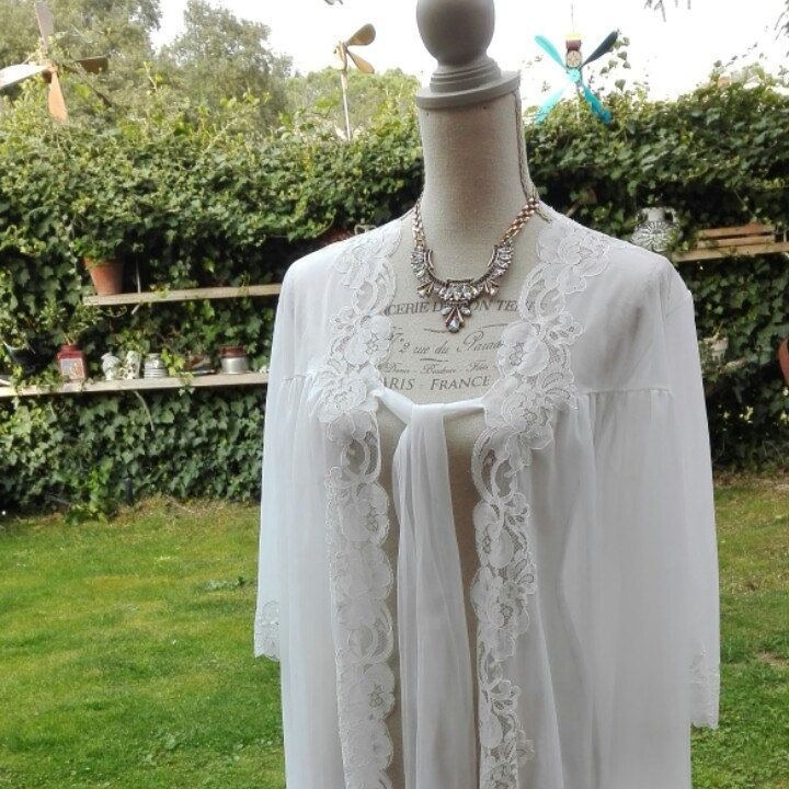 Dressing gown nuvola bianca Shabby chic