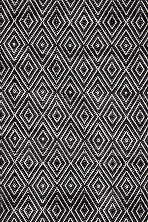 Diamond Black Woven Rug Dash & Albert Rug Company wayfair