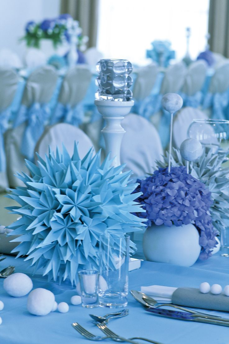 Adorable light blue & white baby boy reception in Poland created by artsize.pl