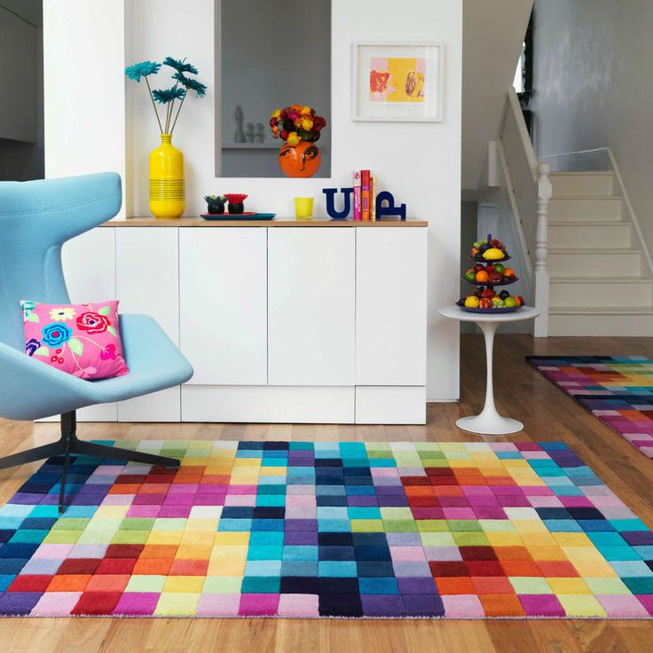New Modern Thick Large Medium Multi Coloured Pure Zealand Wool Rugs Runner