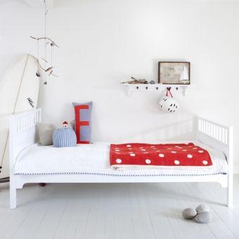 Oliver Furniture Bett/Jugendbett/Einzelbett KIDS, weiß, 90x200cm Einzelbett