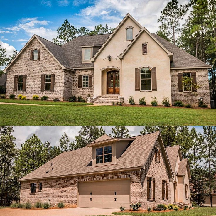 Front and side views of Architectural Designs Acadian House Plan 51740HZ. 3 to 4 beds plus a bonus room with bath over the garage. Total living in one floor over 2,300 square feet. Ready when you are. Where do YOU want to build?