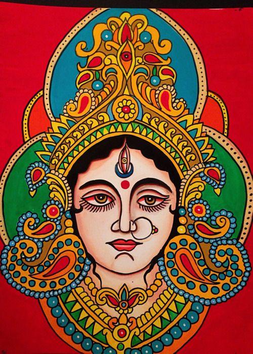 Durga Ma by Robert Ryan. 2014  Om sarvmangal mangaleye shivesarvaarth sadhike, Sharneye Traymbake gauri Narayani Namostute.