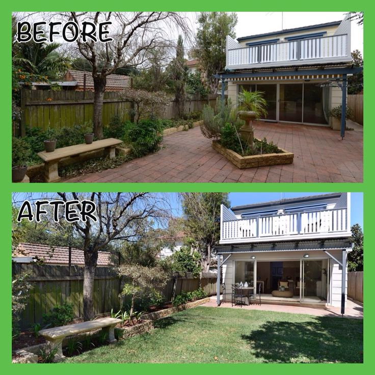 Backyard #Renovation #beforeandafter