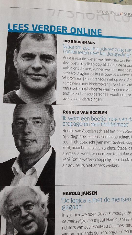 """Auteur Ronald van Aggelen met zijn interview over zijn boek 'Mindhacking' in het Managementboek Magazine van januari: """"Ik word een beetje moe van dat propageren van middelmaat'. #mindhacking #ronaldvanaggelen #mgtboeknl #futurouitgevers"""