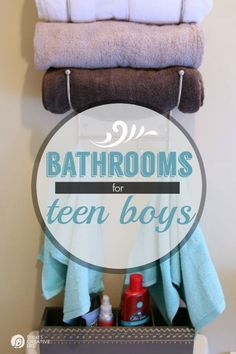 Designing a Bathroom for Teen Boys | Create a bathroom to meet both your needs. See more on TodaysCreativeLife.com #StyleReFlush