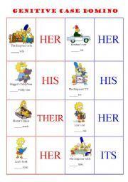 English worksheet POSSESSIVE ADJECTIVES / GENITIVE CASE