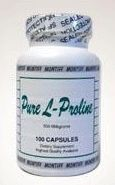 L-proline is an amino acid produced by your liver that is involved in many of the processes that produce connective tissues.  Connective tissue supports, connects, or separates different types of tissues and organs of the body & are what hold our bodies together and help our joints move freely and comfortably.  L-Proline also keeps us looking younger and healthier. It is needed for the production of collagen and helps reduce sagging and wrinkling.