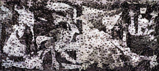 Vik Muniz, Guernica, after Picasso (Pictures of Pigment) © Vik Muniz - Courtesy galerie Xippas