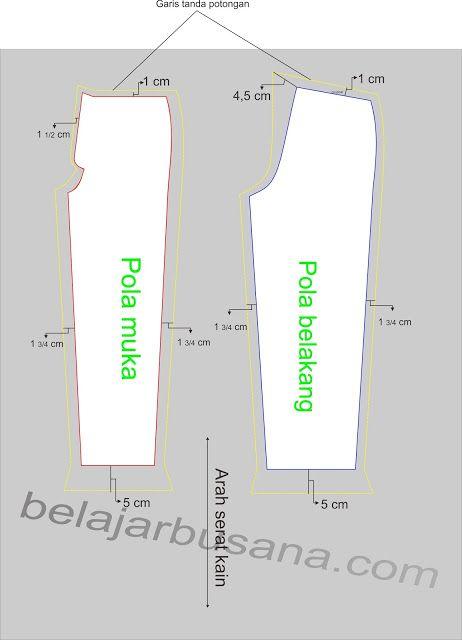 Belajar Busana Online: Celana Panjang Pria | Bagian 3 | Cara memotong bah...