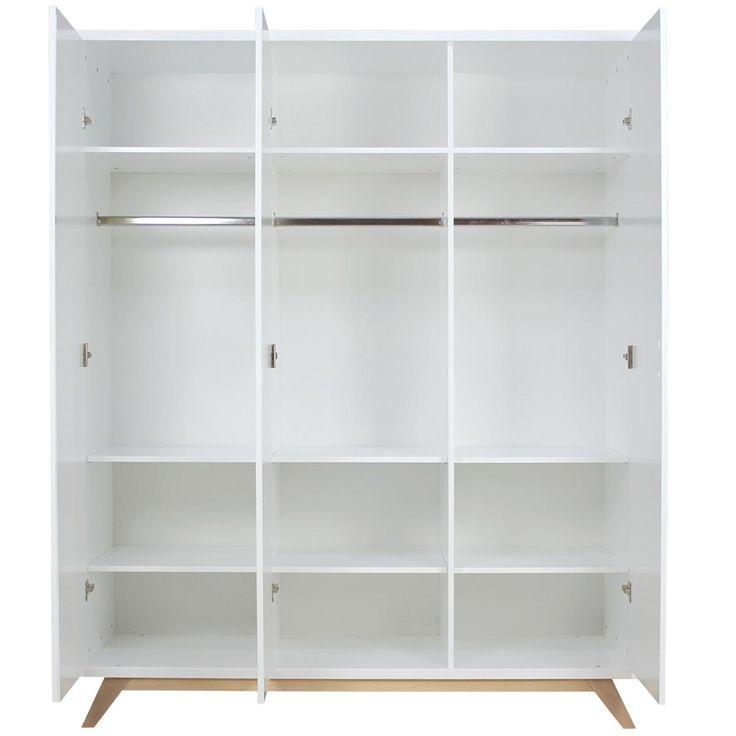 armario infantil 3 puertas lynn bopita blanco natural diseno de