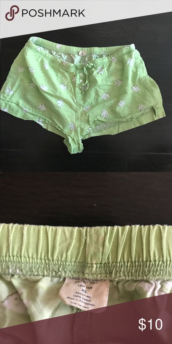 American Eagle 🐟 Lime Green Boxers Fun boxers! American Eagle Outfitters Intimates & Sleepwear Pajamas