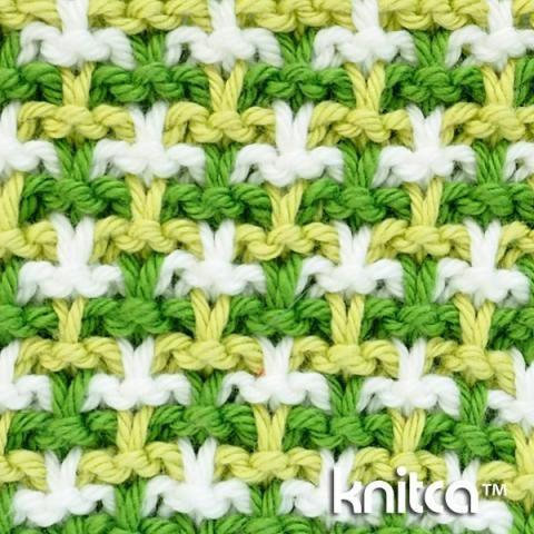 Right side of knitting stitch pattern – Slip Stitch 20 at knitca.com