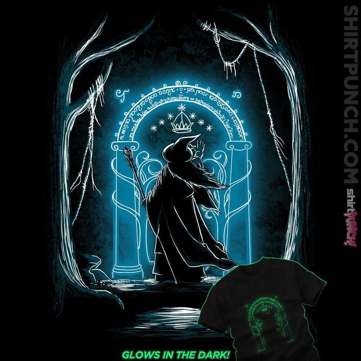glow in the dark t-shirt design - Gandalf - LotR