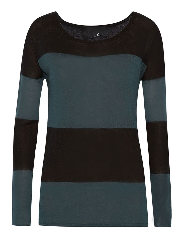 Line - Surrealist Striped Fine-Knit Sweater