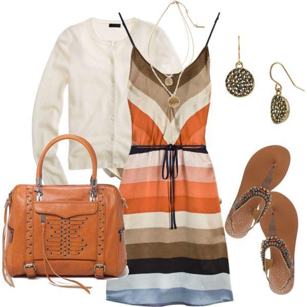 Very cute!: Summer Sundresses, Stripes Sundresses, Cute Outfits, Summer Outfits, Orange Sundresses Outfits, Strips Sundresses, Super Cute Dresses, Cute Summer Dresses, Stripes Dresses
