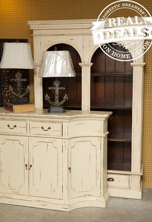 White distressed furniture by Real Deals on Home Decor