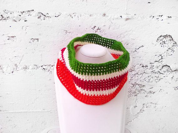 Autumn colors crochet cowl scarf  Boho scarf Crochet by GuruMIme