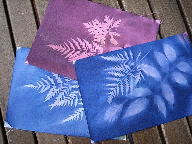 sun prints on fabric with no special supplies - this looks neat, I'm curious what paints would work.