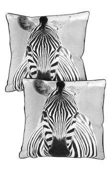 Kuddfodral 2-pack Zebra