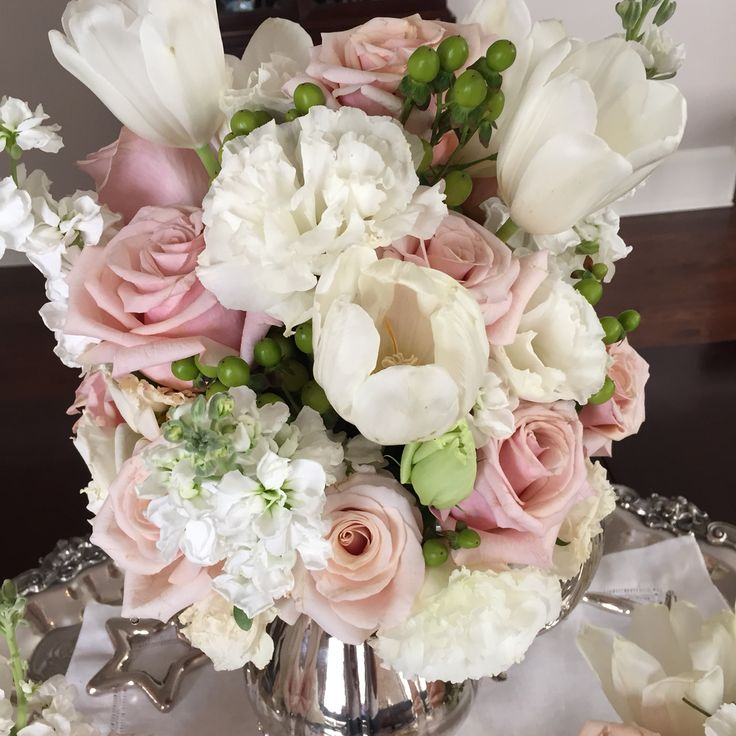 68 best my floral arrangements images on pinterest floral pale pink white floral mightylinksfo