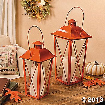 delightful additions to your halloween dcor these bright orange lanterns will be a real stand out among your decorations place these orange lanterns - Rustic Halloween Decorations
