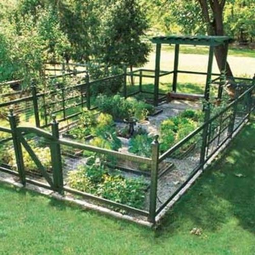 25 best ideas about vegetable garden fences on pinterest for Garden bed fence ideas