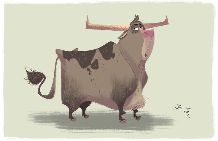 Cartoon Cow #cow #animal