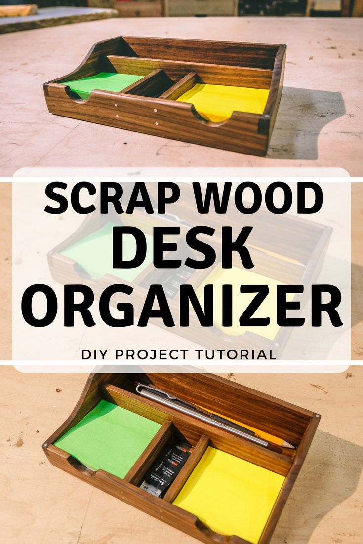 Diy Scrap Wood Desk Organizer Diy Wooden Desk Wooden Desk Organizer Simple Desk Organizer