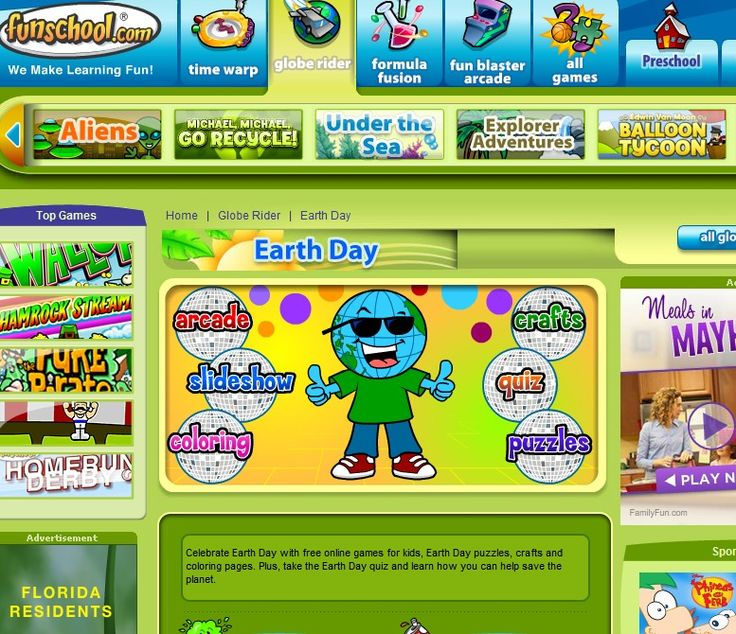 FunSchool Earth Day Site - free online games for kids, Earth Day puzzles, crafts and coloring pages. Plus, take the Earth Day quiz and learn how you can help save the planet. -  Pinned by @PediaStaff – Please Visit http://ht.ly/63sNt for all our pediatric therapy pins