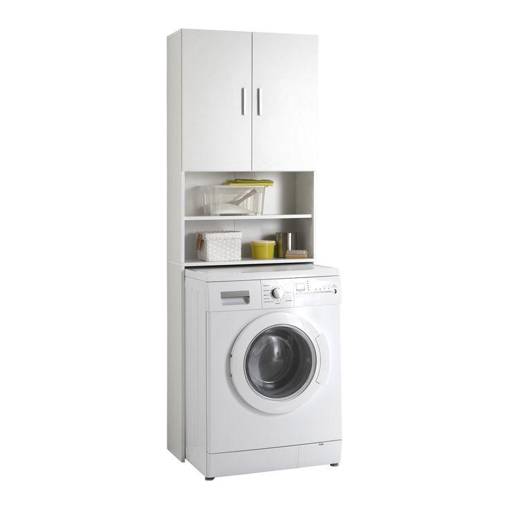 FMD 913-001 Olbia Armoire de Rangement 2 Portes 2 Compartiments: Amazon.fr: Cuisine & Maison