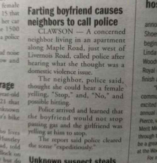 Have your farts gotten you into trouble with the law? | Are You The Awkward One In The Relationship?